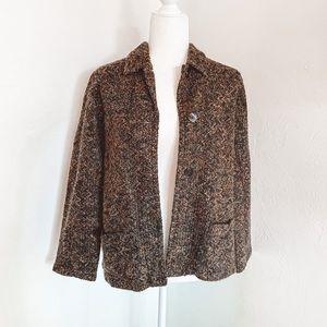 Chico's Brown Tweed Cozy Cardigan / Coat Size S